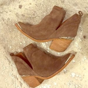 Crowell Cutout Cowboy Bootie